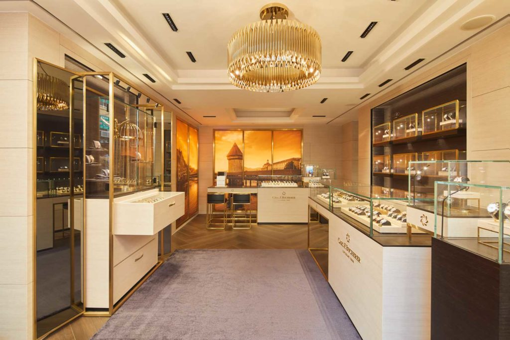 Interior of the Carl F. Bucherer boutique in Hong Kong