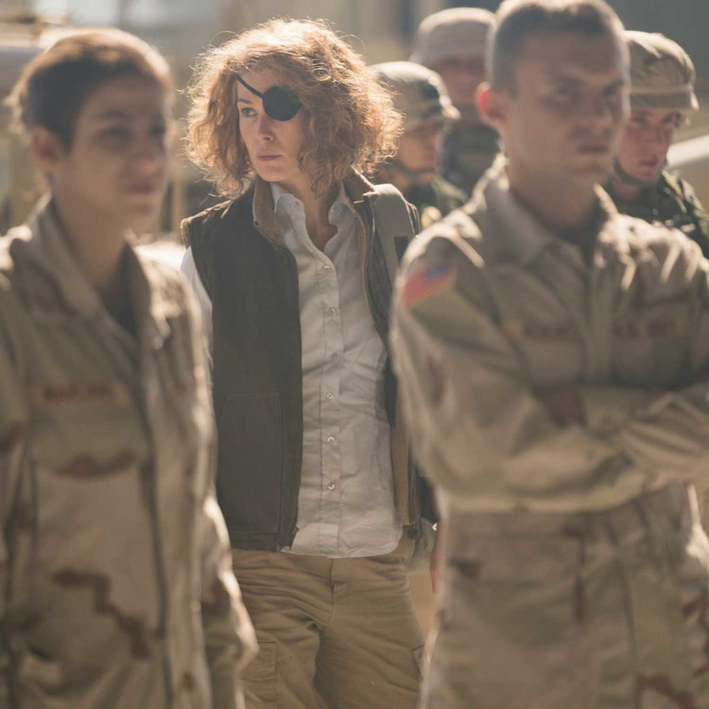 Rosamund Pike plays Marie Colvin in her latest release A Private War (Images: Keith Bernstein/Jonathan Prime/Aviron Pictures)