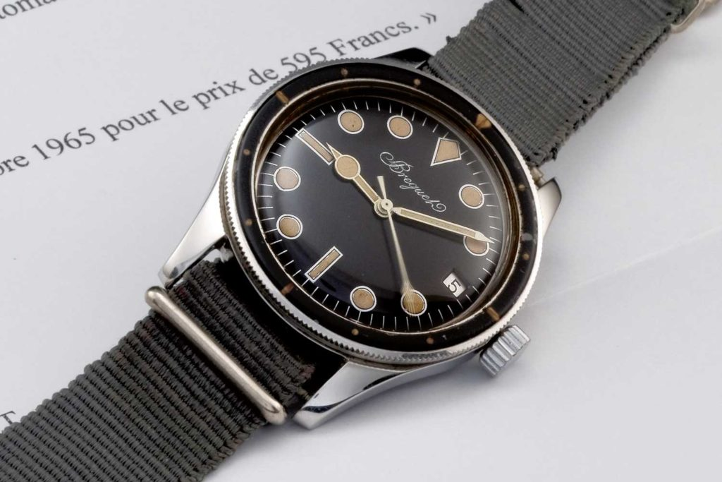 Breguet 1646 diver's watch with letter of confirmation from Breguet
