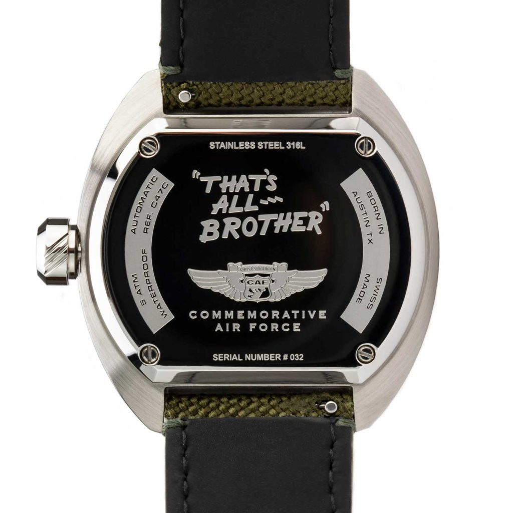 Tockr D-Day C-47 Watch Caseback