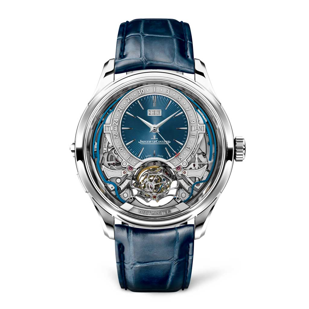 The Master Grande Tradition Gyrotourbillon Westminster Perpétuel with a blue enamel guilloché dial