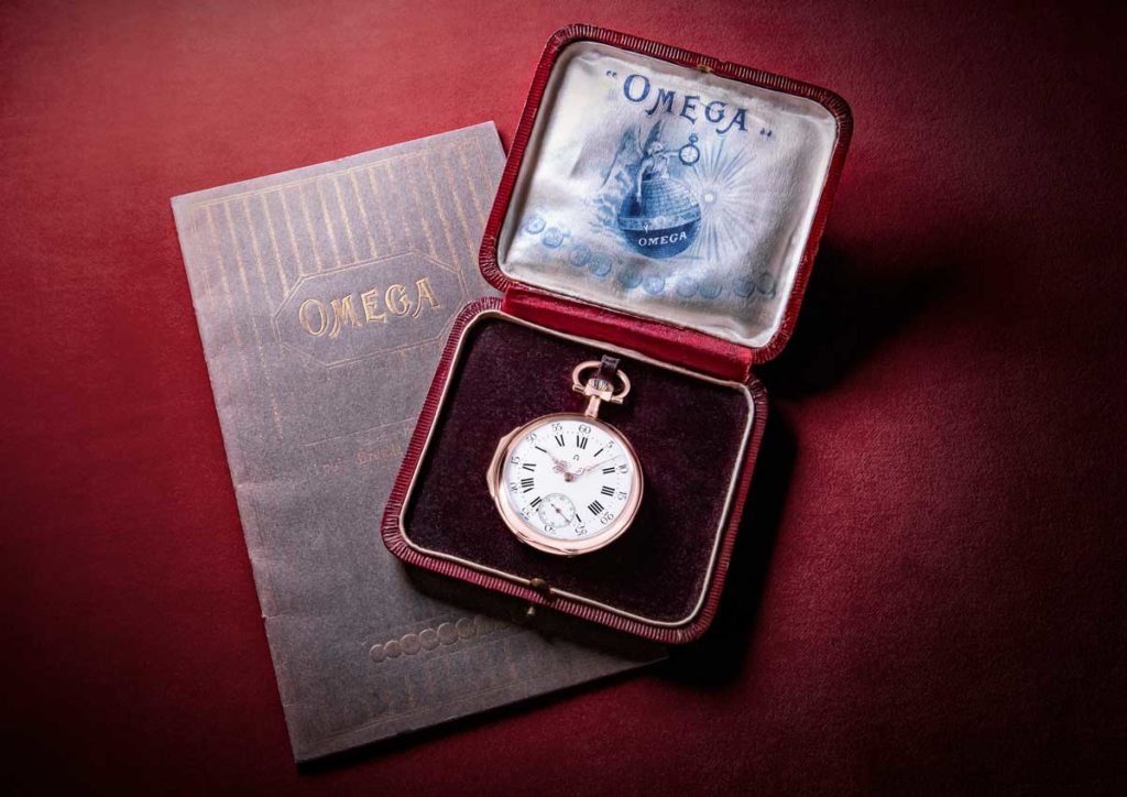 Pocket Watch with a 19-ligne Omega Calibre