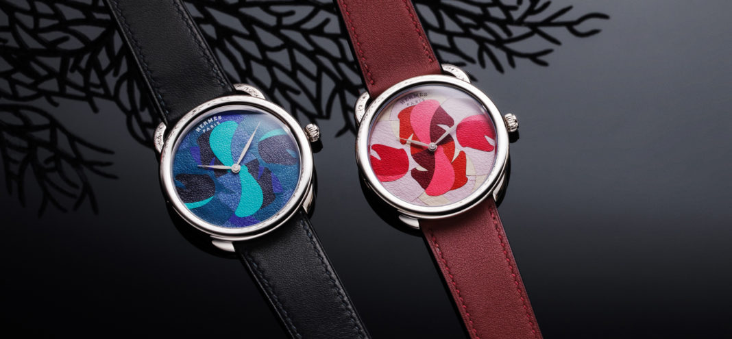 Hermès First to Use Leather Marquetry in Watchmaking