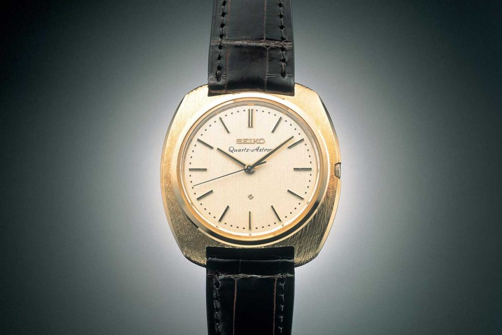 First commercially available quartz watch, the Seiko Astron of 1969