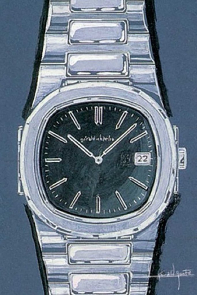 Sketch of Patek Philippe Nautilus