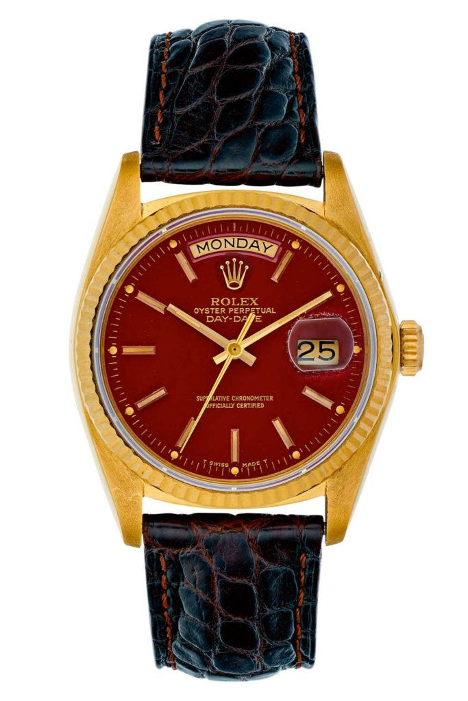 Day-Date ref. 18038 Red Stella Dial