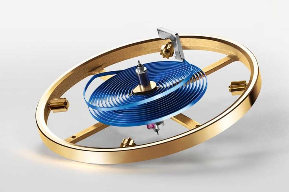 Cal. 3255 free-sprung balance wheel and Parachrom hairspring