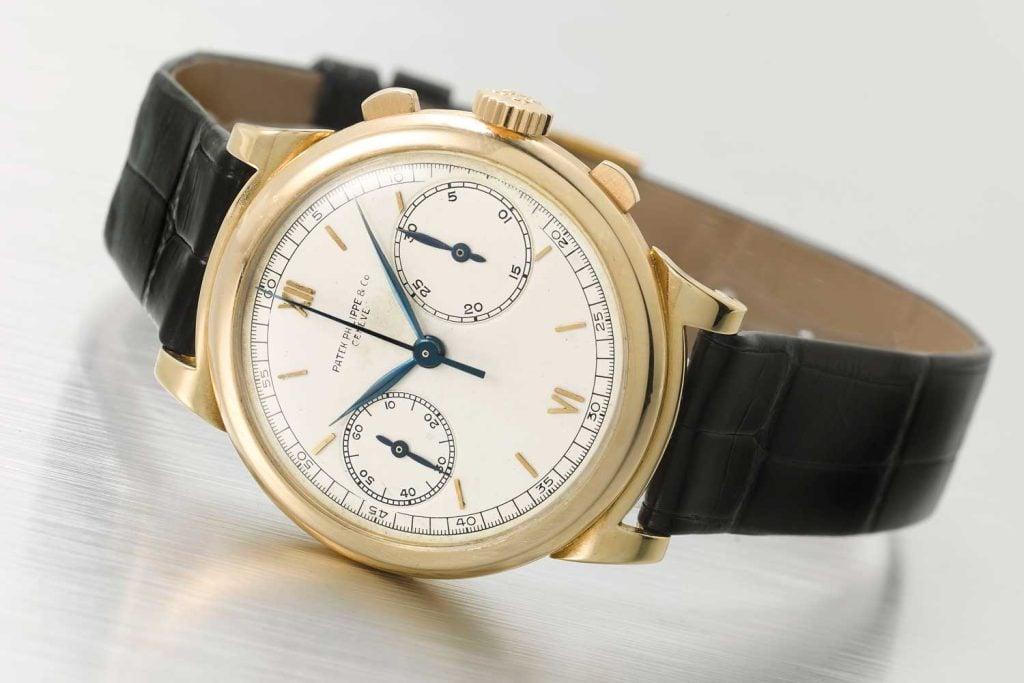 """Lot 177: Patek Philippe ref. 1491J CC """"Chronograph Compteurs"""""""