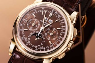 Ref. 5970 in rose gold with a unique chocolate dial, property of Wei Koh (Image © Revolution)