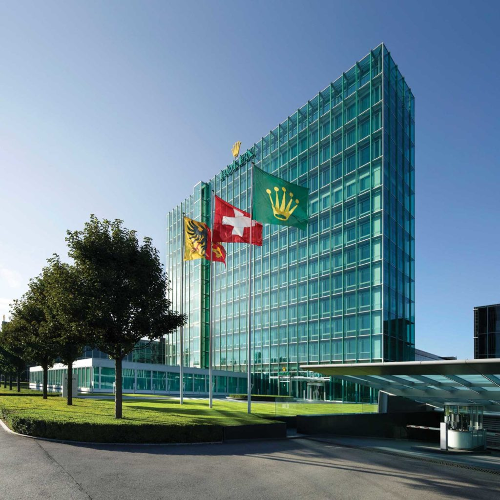 The Rolex facilities in Geneva