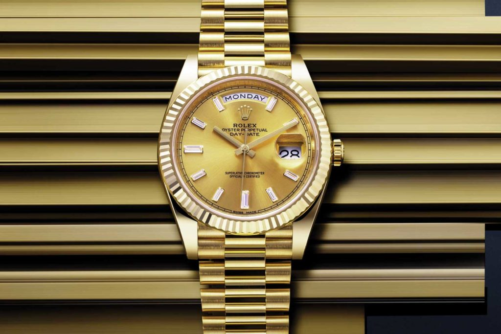 Rolex Day-Date 40 timepiece in yellow gold