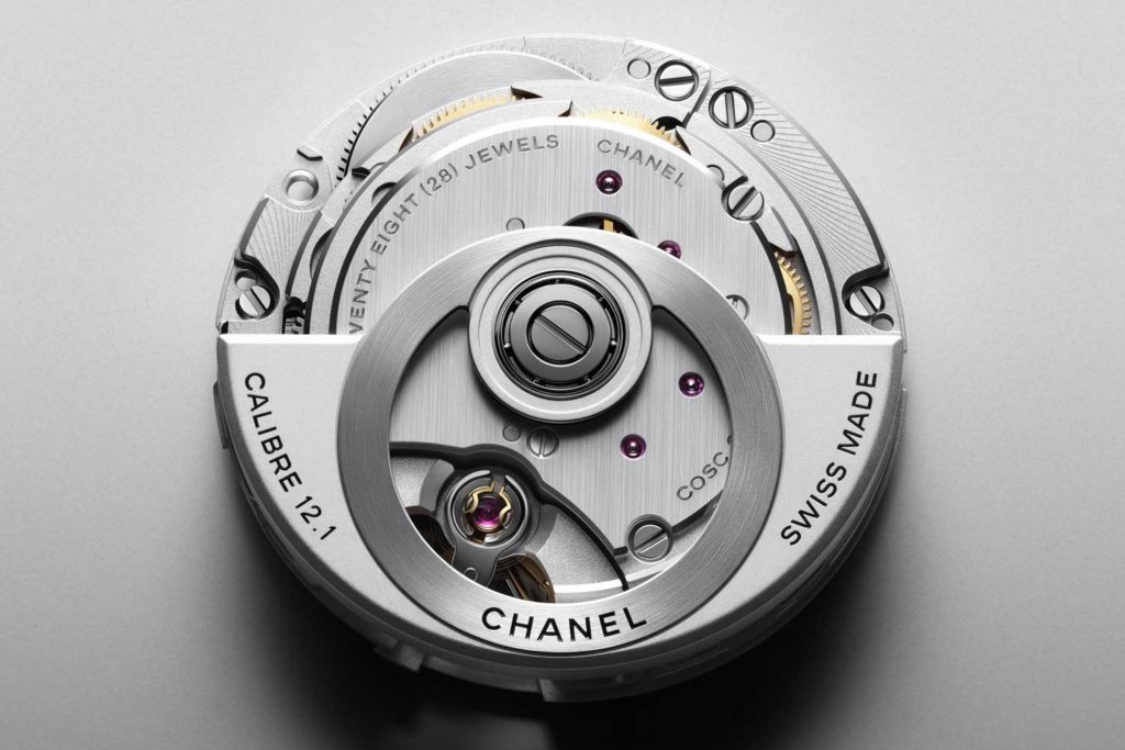 The Chanel calibre 12.1 designed by Kenissi for the maison