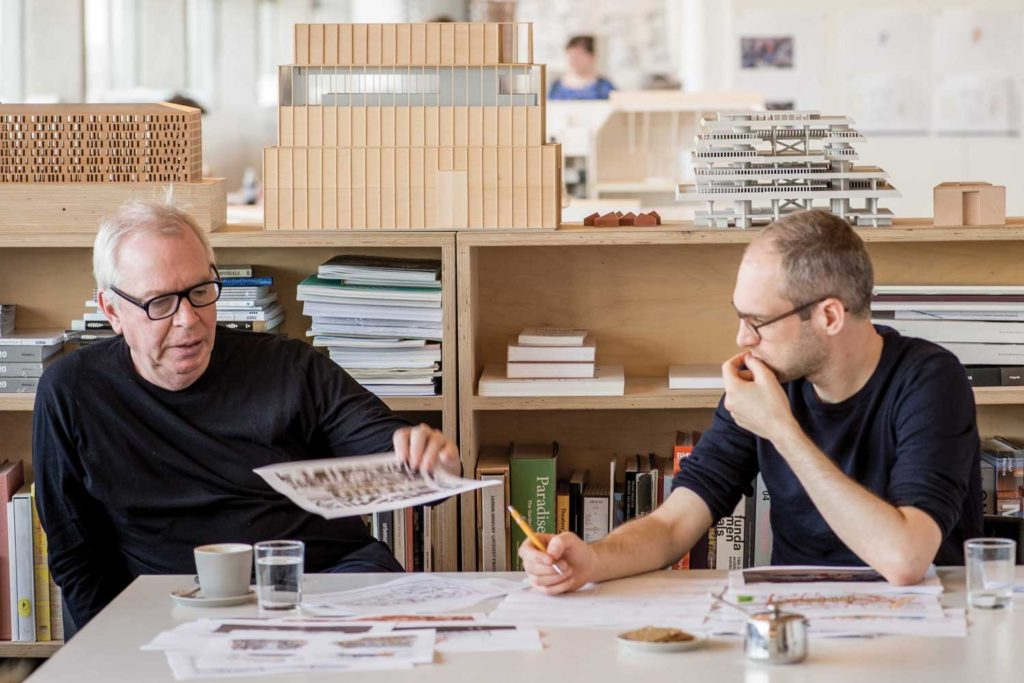 Sir David Chipperfield and Simon Kretz at work