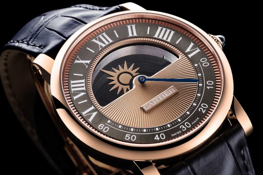 Rotonde de Cartier Mysterious Day & Night in 18k pink gold with moon and sun indicator