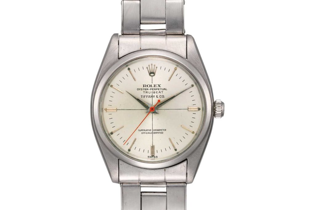 LOT 95: ROLEX Tru-Beat Ref. 6556 Retailed by Tiffany & Co.