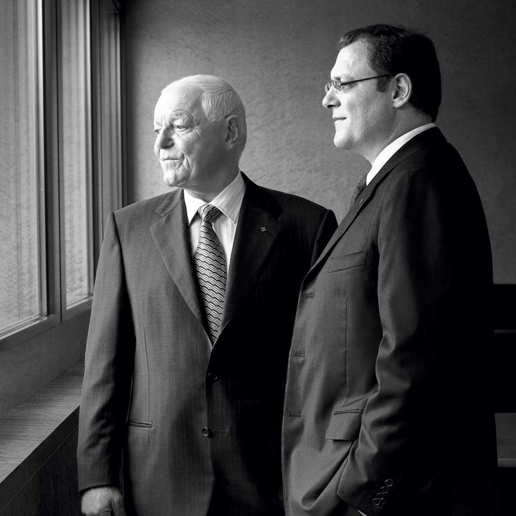 Philippe and Thierry Stern at the Patek Philippe manufacture