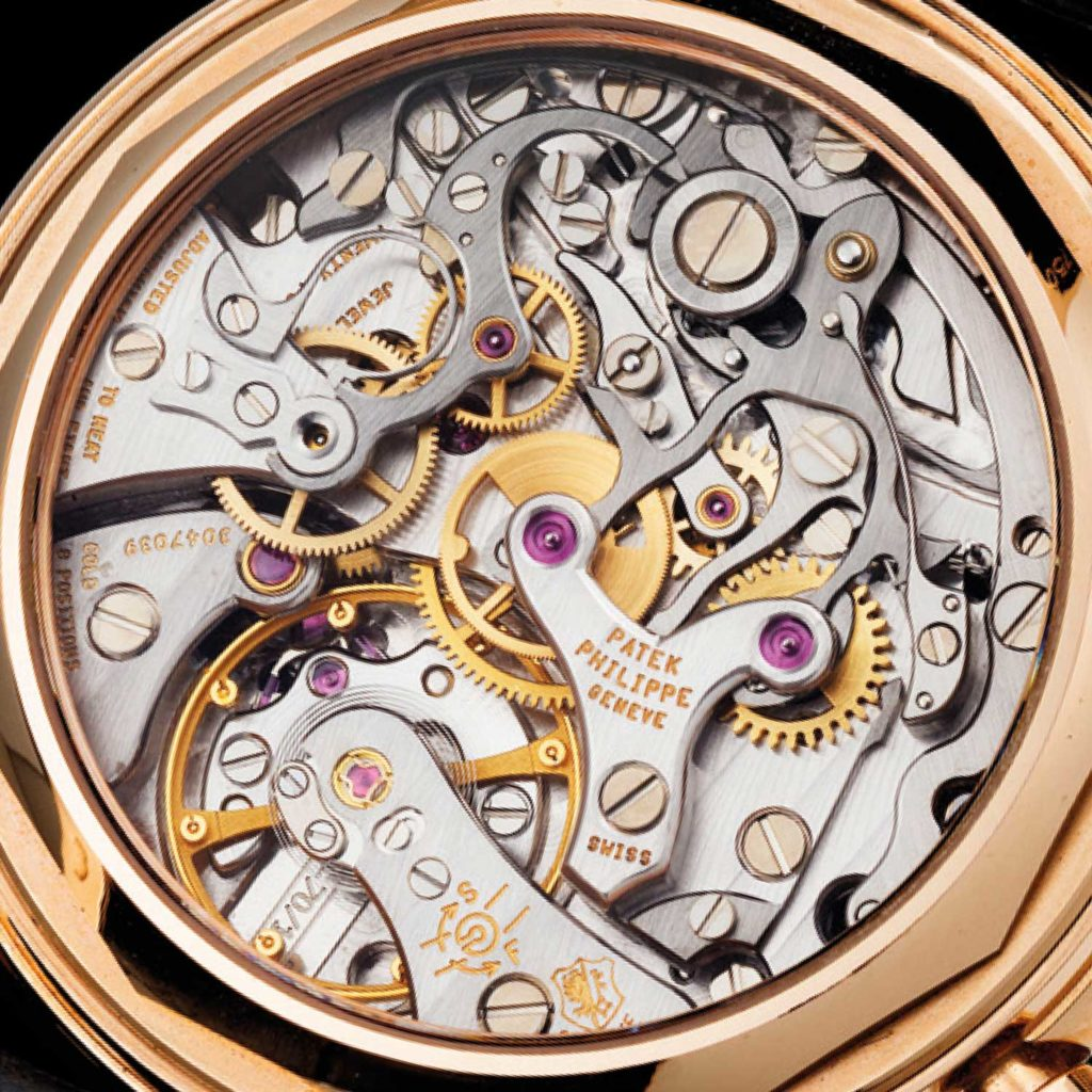 Lemania 2310 movement in the ref. 3970, as the Cal. CH 27-70 Q (image: Christie's)