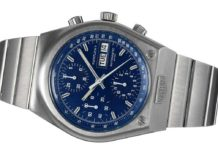 Heuer Kentucky, one of the first to use the Valjoux 7750