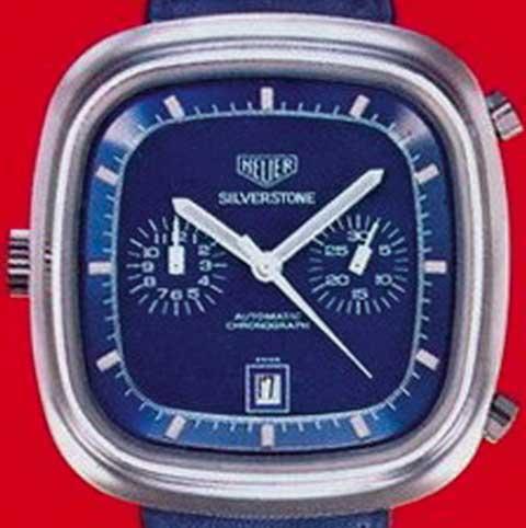 Heuer Silverstone blue dial