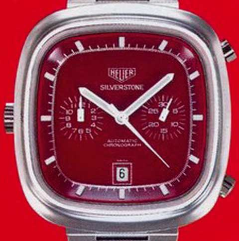 Heuer Silverstone red dial