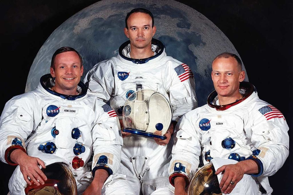 S69-31740 (May 1969) --- The National Aeronautics and Space Administration (NASA) has named these three astronauts as the prime crew of the Apollo 11 lunar landing mission. Left to right, are Neil A. Armstrong, commander; Michael Collins, command module pilot; and Edwin E. Aldrin Jr., lunar module pilot. For their mission, Armstrong and Aldrin wore the Speedmaster ST 105.012 and Collins wore the ST 145.012 (Image: spaceflight.nasa.gov)