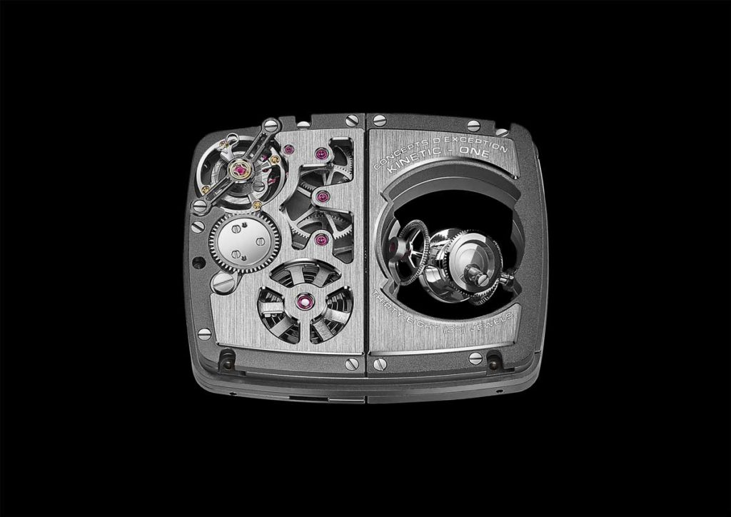 The Hautlence HL Sphere's movement: the HTL 501-1 hand-wound mechanical movement