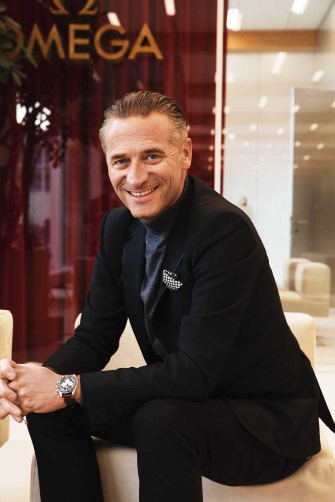CEO of Omega, Mr Raynald Aeschlimann (© Revolution)