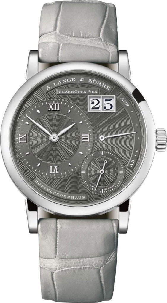 Little Lange 1 (2018), white gold with grey dial