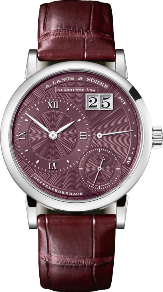 Little Lange 1 (2018), white gold with burgundy dial