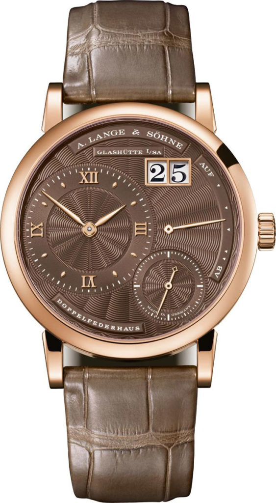 Little Lange 1 (2018), rose gold with chocolate dial
