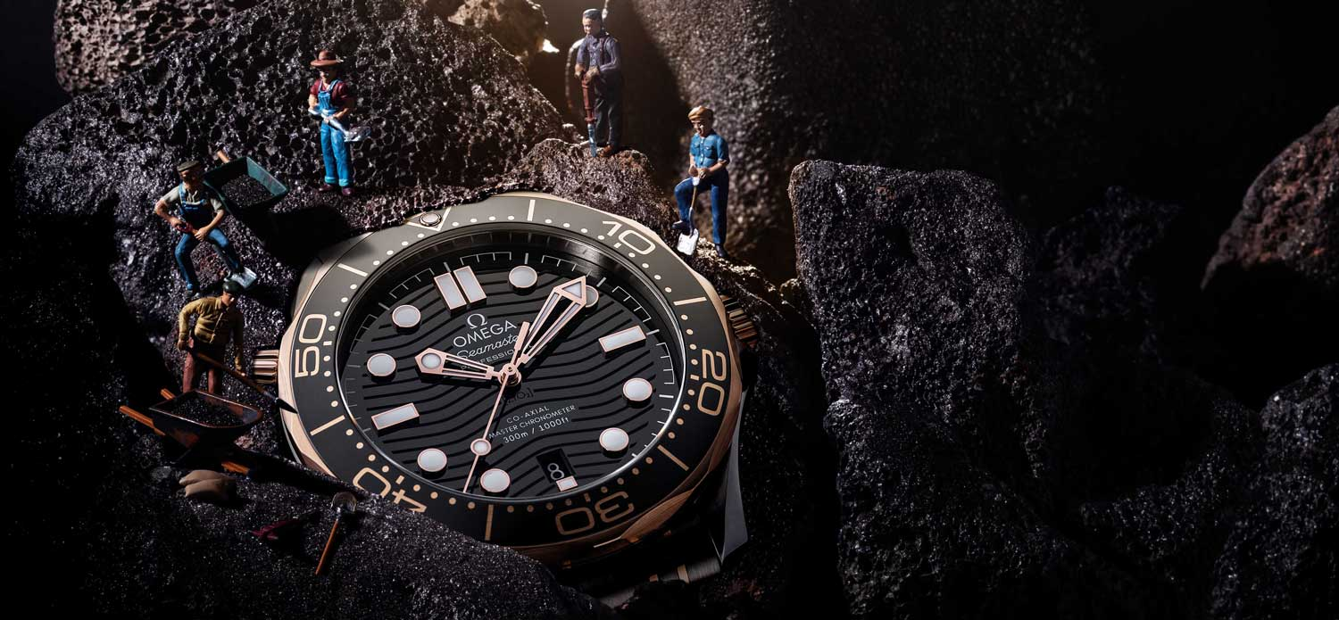 Omega Seamaster Diver 300m Co-Axial Master Chronometer in steel with 18K Sedna Gold (Image © Revolution)