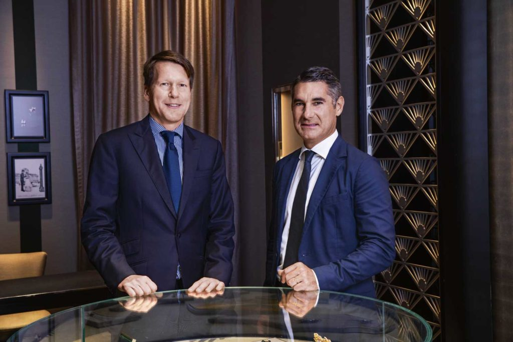 From left: Nicolas Luchsinger and Hugues de Pins