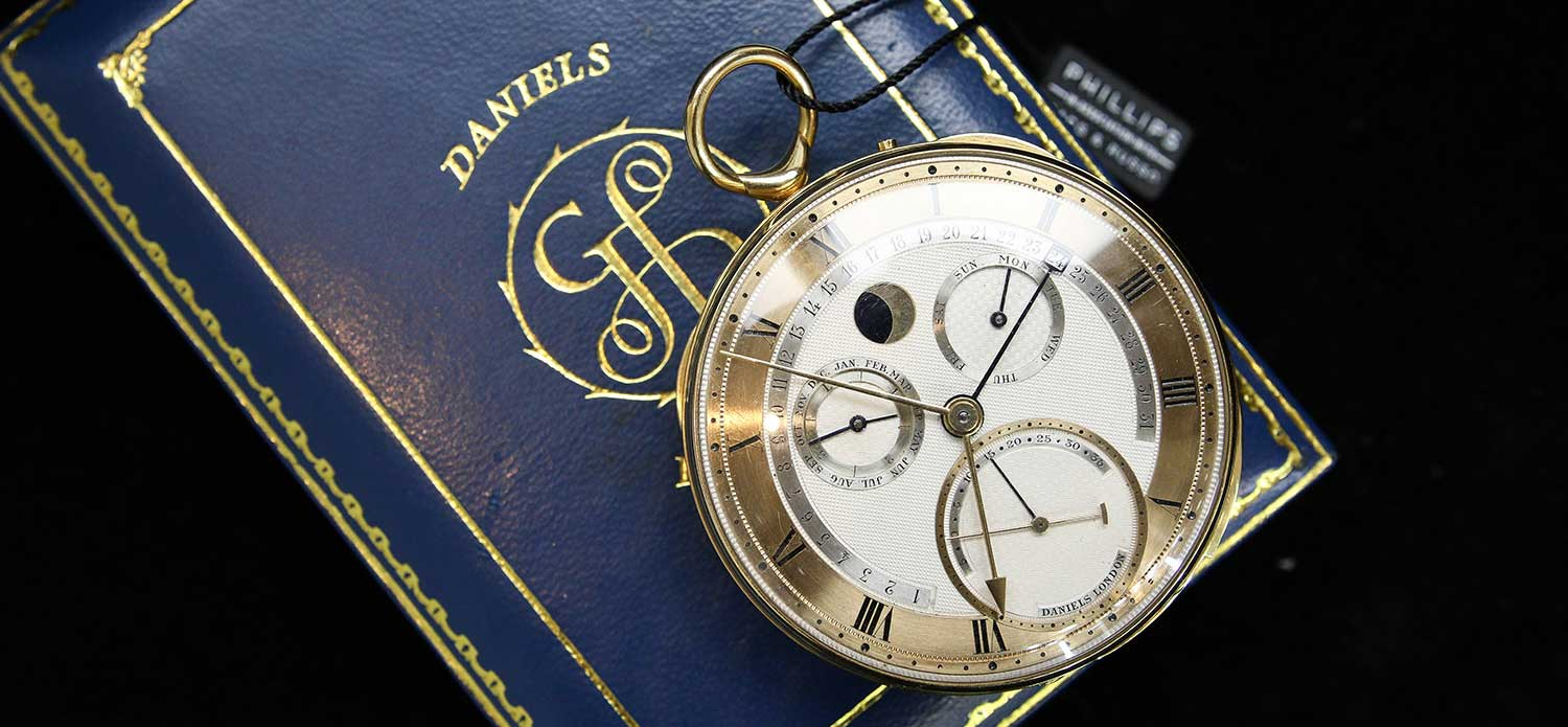 The George Daniels Grand Complication pocket watch leads the Geneva Watch Auction: Nine (Photo: Kevin Cureau)