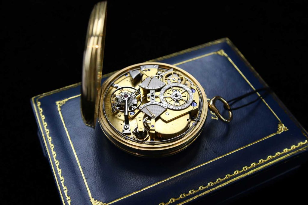 Movement on the George Daniels Grand Complication Pocket Watch (Photo: Kevin Cureau)