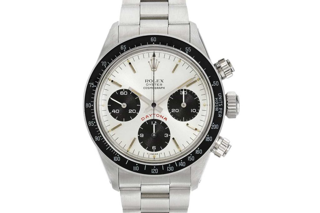 Lot 47: Daytona big red, ref. 6263 stainless steel chronograph with bracelet circa 1979
