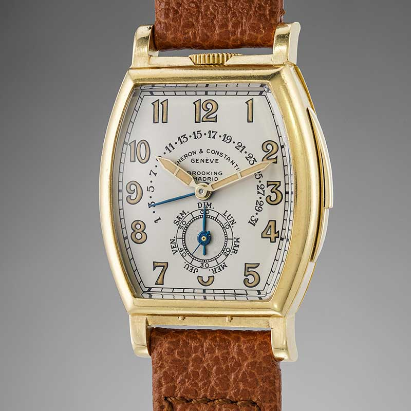 The faithful and exact copy of the dial recreated by Vacheron Constantin