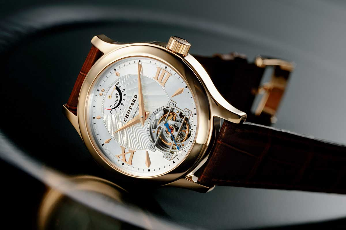 The 4Hz Chopard L.U.C Quattro Tourbillon was powered by four barrels amounting to a power reserve of eight days, accompanied by the Geneva Seal and COSC certification (Image: Chopard) Quattro tourbillon
