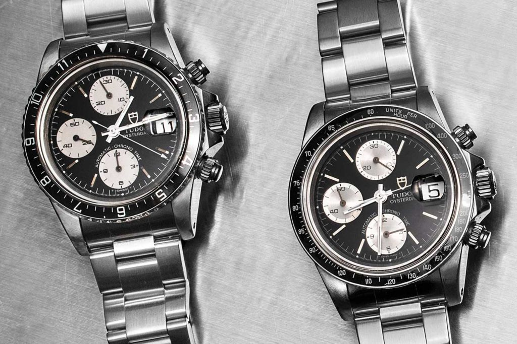 'Big Block' refs. 79170 and 79160 both with black dials and bezel (Image © Revolution)