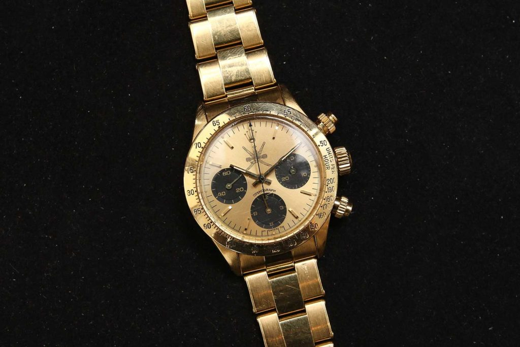 "Lot 103: Rolex Ref. 6265 with ""Khanjar"" dial (Photo: Kevin Cureau)"