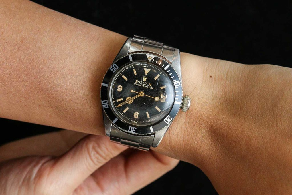 "Lot 220: Rolex Ref. 6200 Submariner ""Big Crown"" (Photo: Kevin Cureau)"