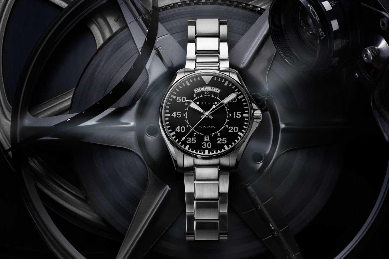 Hamilton Khaki Pilot Day Date in stainless steel (Image © Revolution)