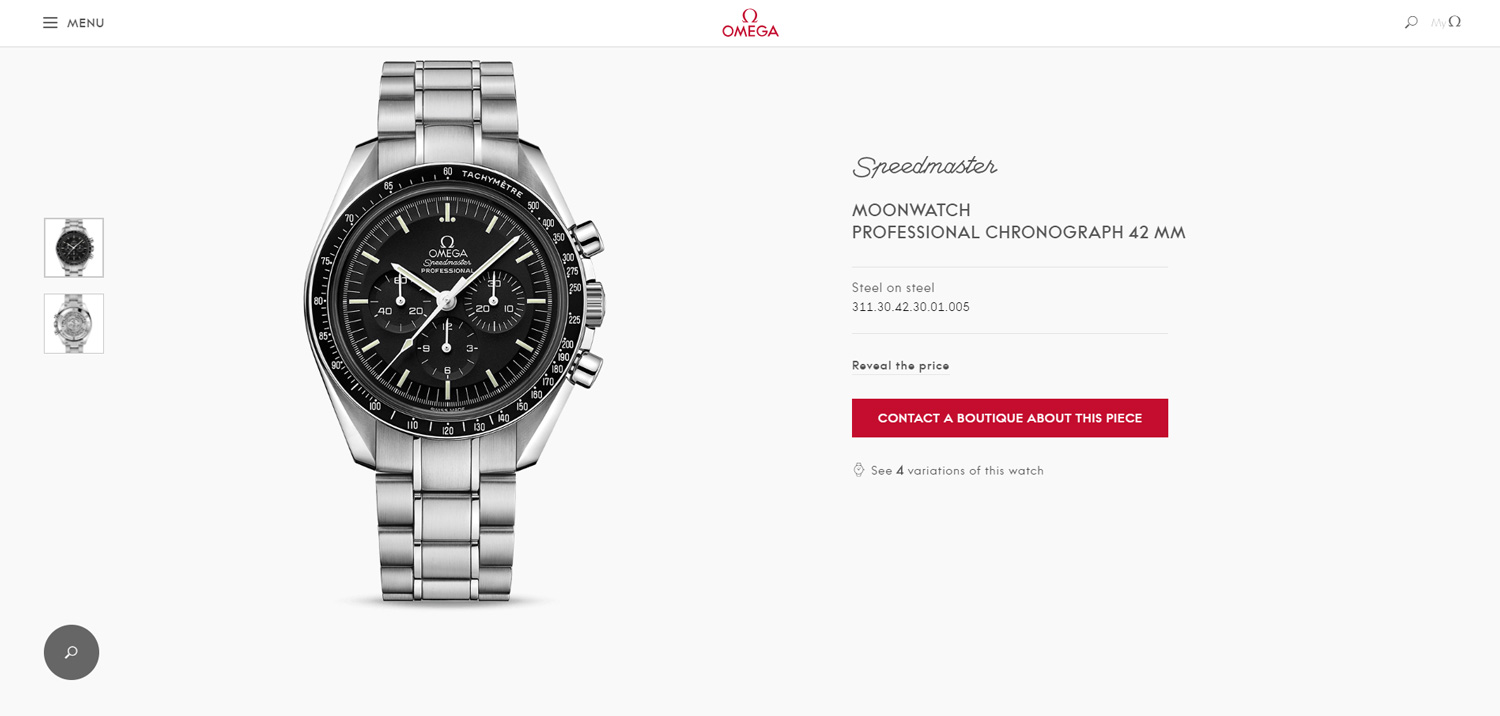 Omega Starts Selling Watches Online in the UK
