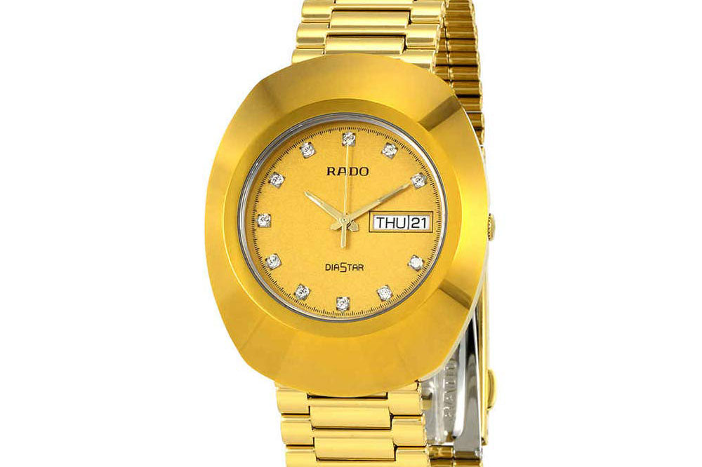 A gold-colored Rado DiaStar