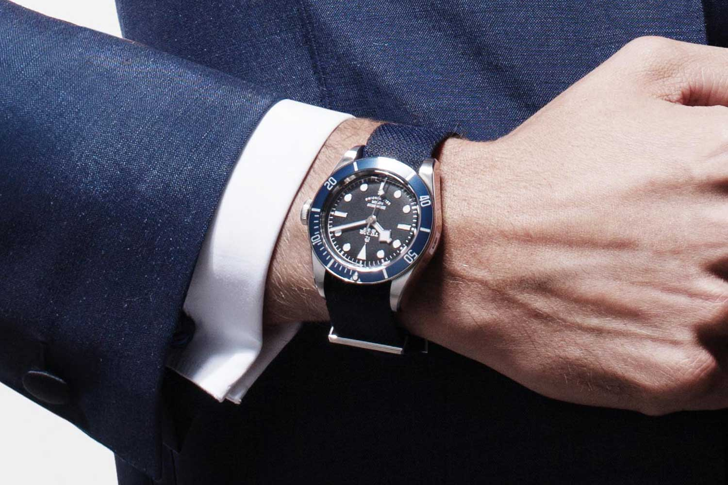 Tudor Heritage Black Bay with navy fabric strap (Image © Revolution)