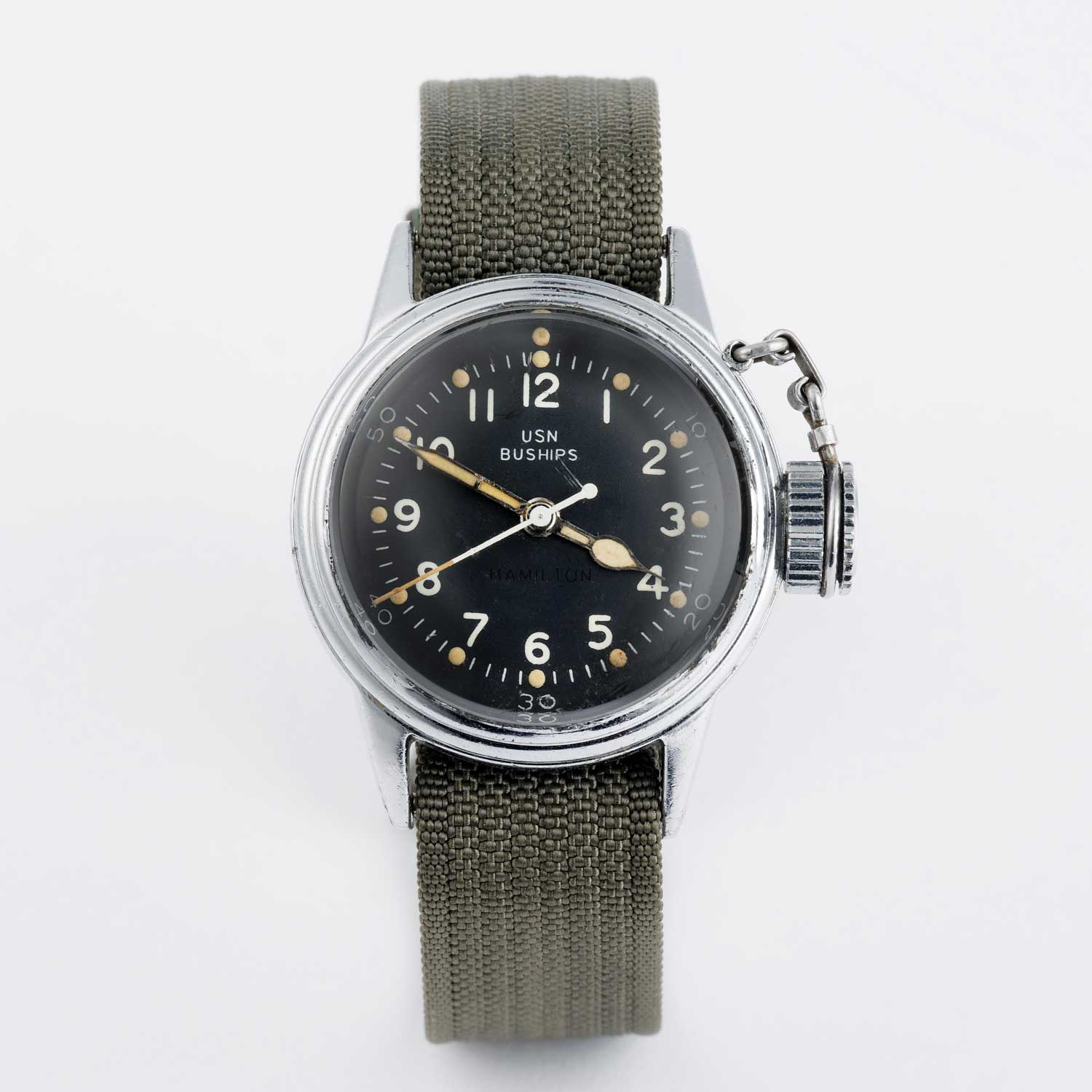 """Canteen"" watch, named for its screw-down crown protector"