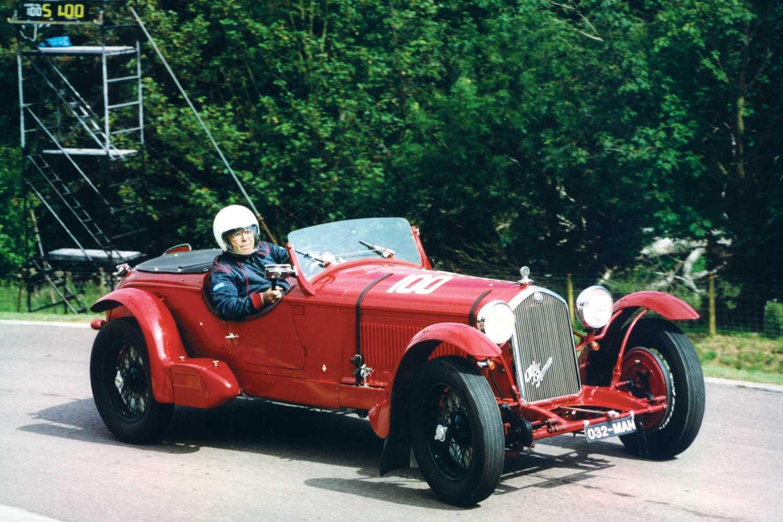 Daniels in his 1932 Alfa Romeo 8C 2300