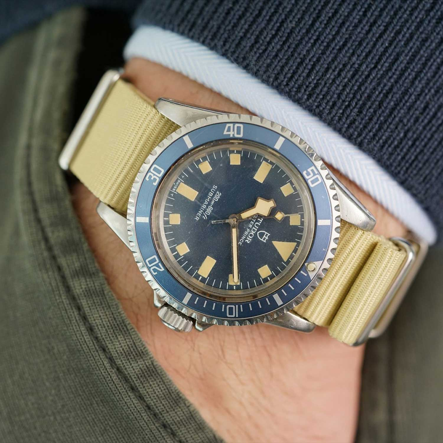 Lot 45: Tudor military Marine Nationale Ref. 9401/0 sold for CHF 40,000