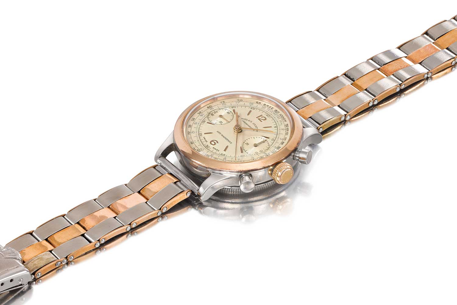 Lot 193: Rolex Stainless Steel and Pink Gold Ref. 3525 Formerly the Property of the Late Andy Warhol The Property of an Important Private Italian Collector