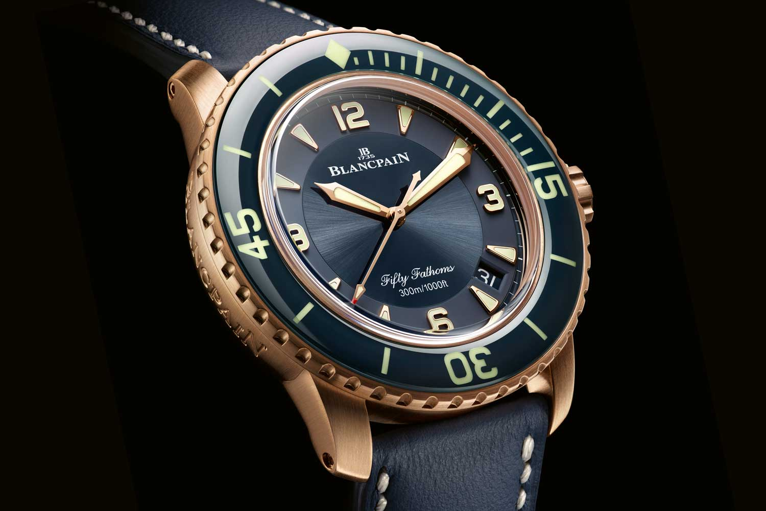 Fifty Fathoms Automatique in 18k rose gold