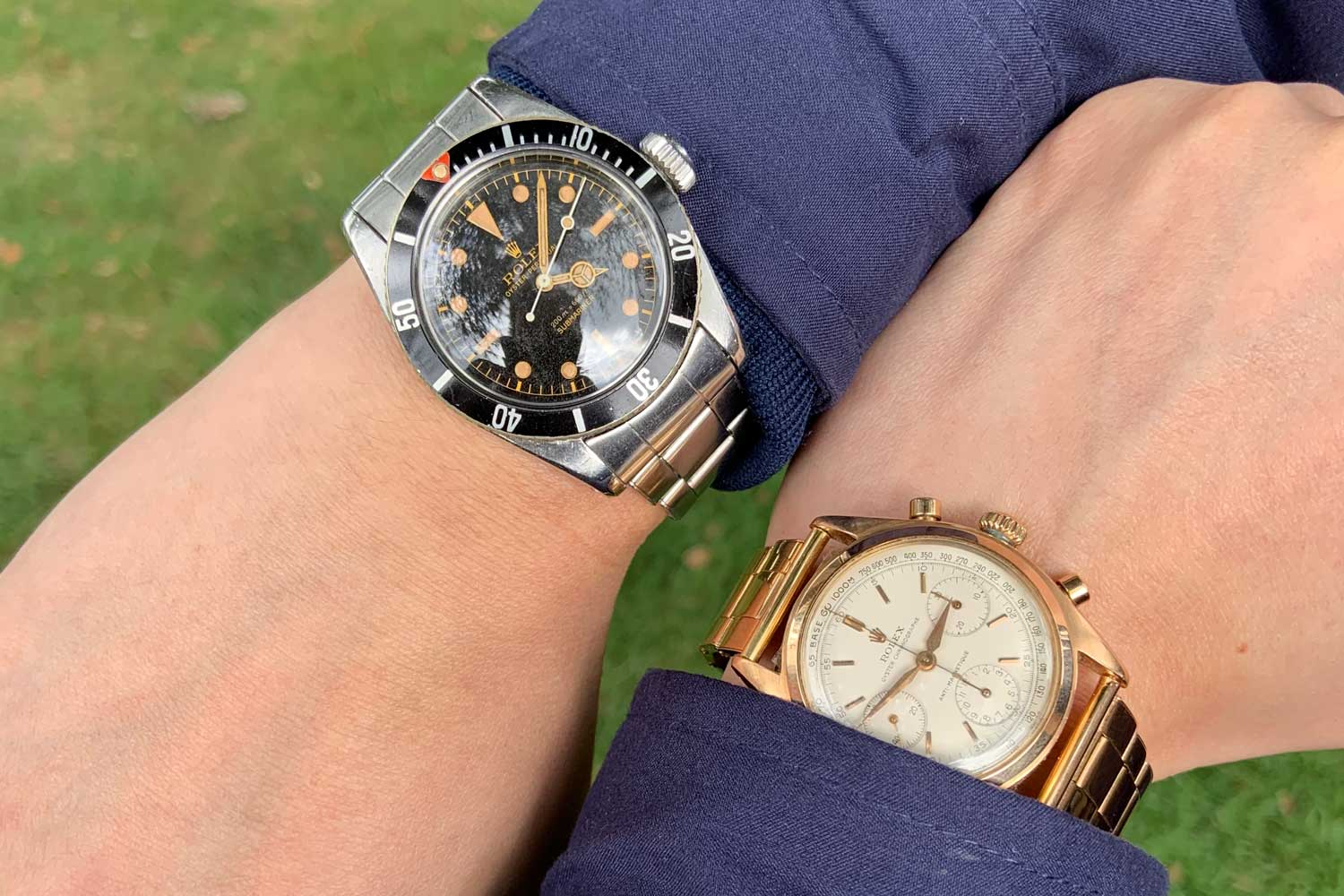 Noble and Graff's 'Big Crown' 5510 and an equally incredible rose gold 6034